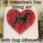 DIY Valentine's Day String Art with Your Favorite Dog Silhouette