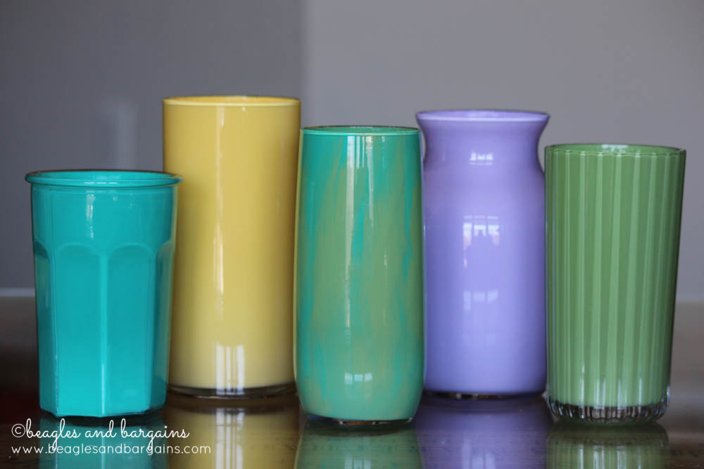 How to make DIY Upcycled Painted Glass Vase