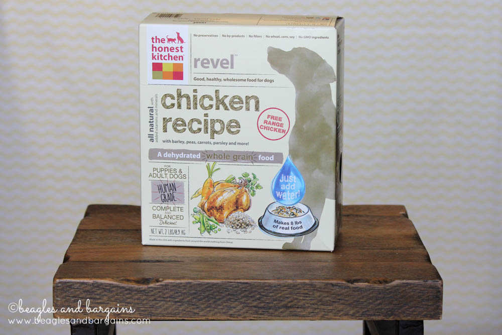 The Honest Kitchen Revel is a budget friendly dehydrated dog food option.