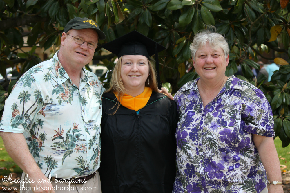 My parents and sister at her college graduation.