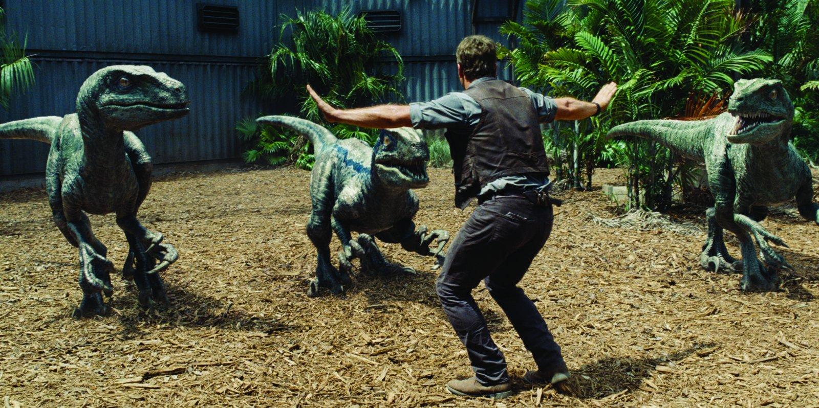 Velociraptors in Jurassic World
