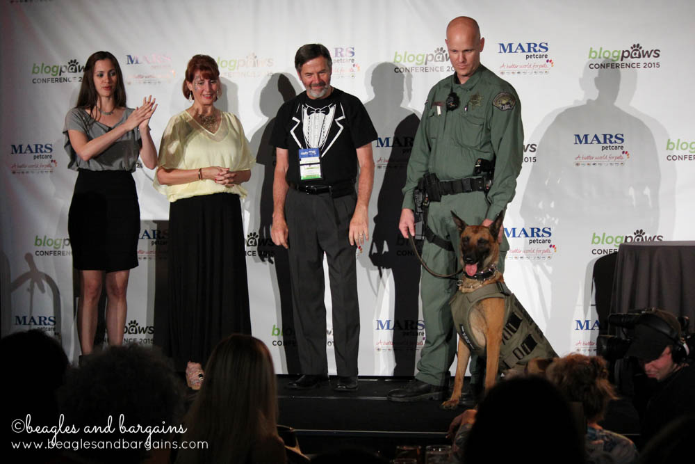 BlogPaws donated a bullet proof vest to K9 Officer Ammo.