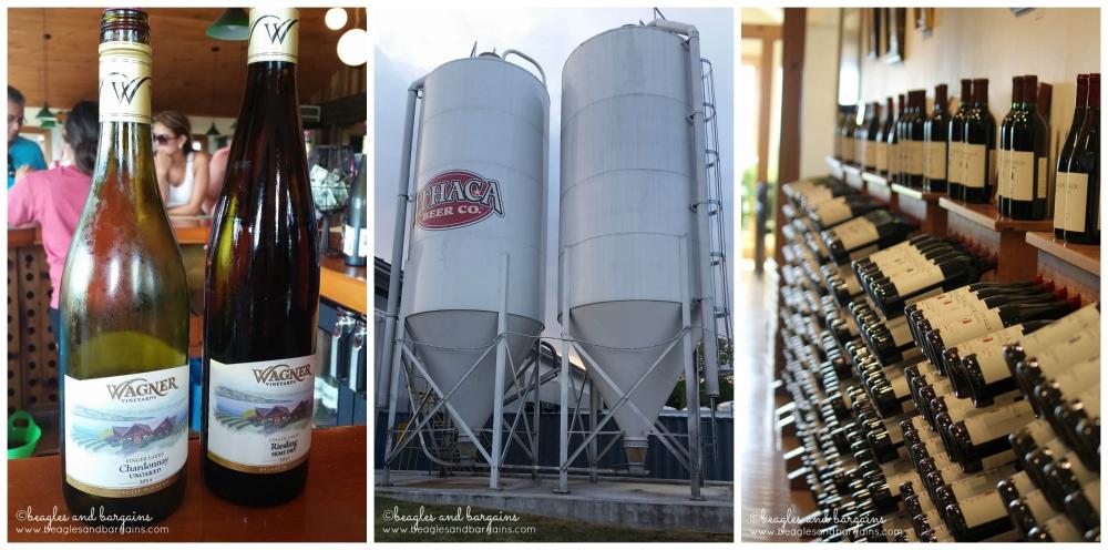 We visited Wagner Vineyards, Ithaca Beer, and Lamoreaux Landing Wine Cellars