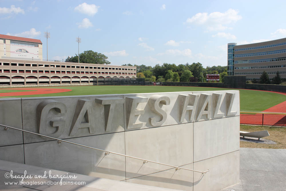 New Gates Hall at Cornell University is next to the baseball field.
