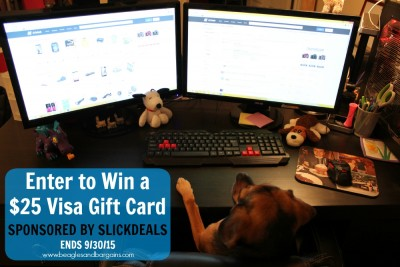 Enter to win a $25 Visa Gift Card from Slickdeals - ends 9/30/15