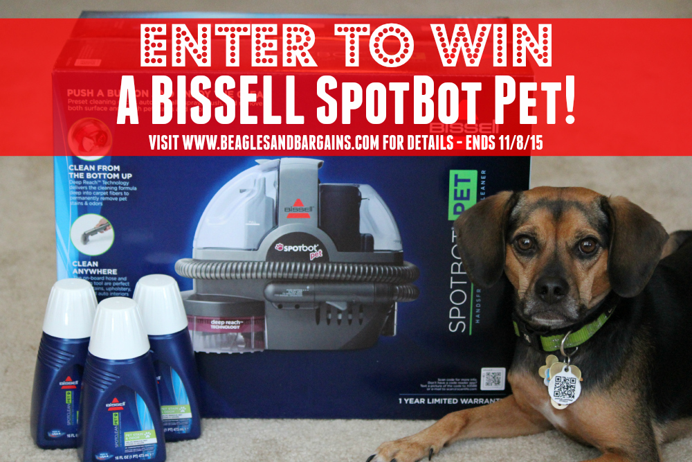 Enter to win a BISSELL SpotBot Pet - ends 11/8/15