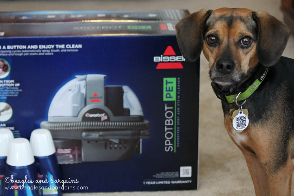 BISSELL SpotBot Pet helps remove pet stain and odors