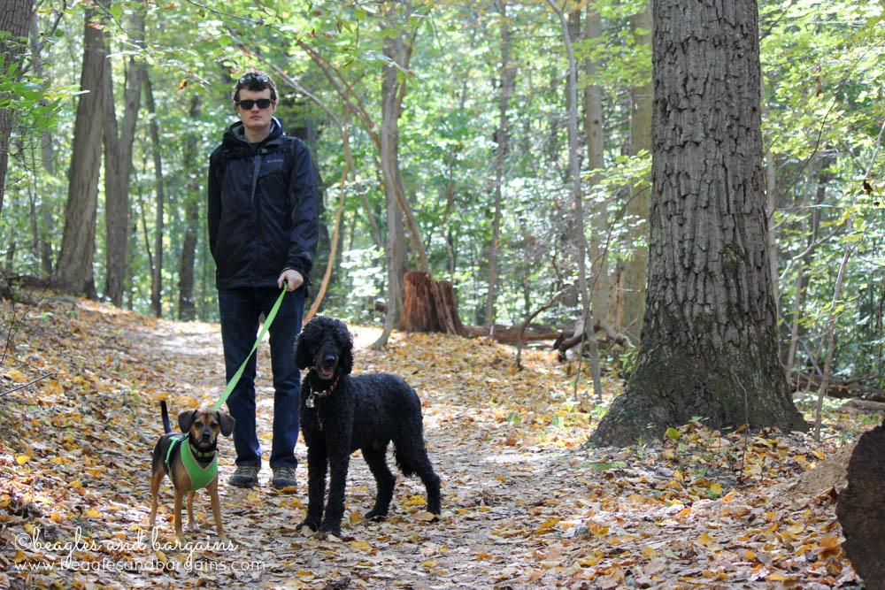 Struan, Luna, and Cousin Keto ready to hike!