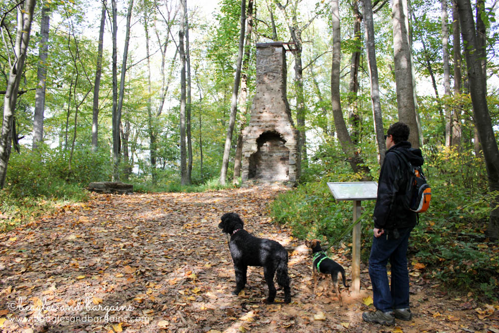 Struan, Luna, and Cousin Keto visit the Burling Cabin Site.
