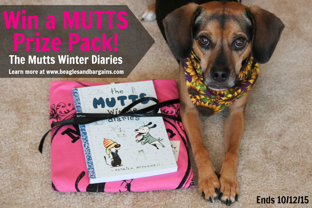 Win a MUTTS Prize Pack! The Mutts Winter Diaries - ends 10/12/15
