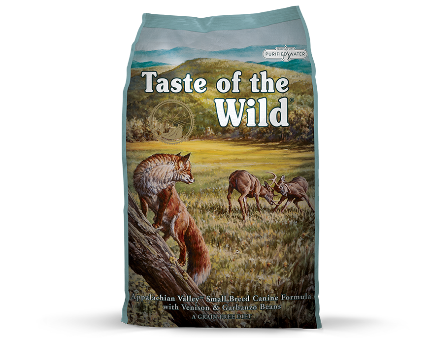 Taste of the Wild's newest dog food formula - Appalachian Valley for small breed dogs