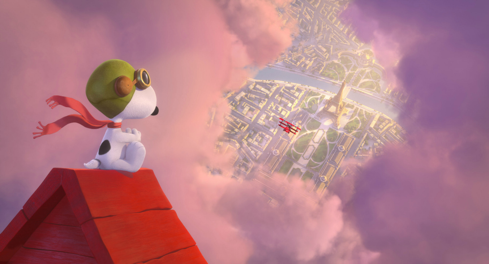 Snoopy vs the Red Baron in The Peanuts Movie