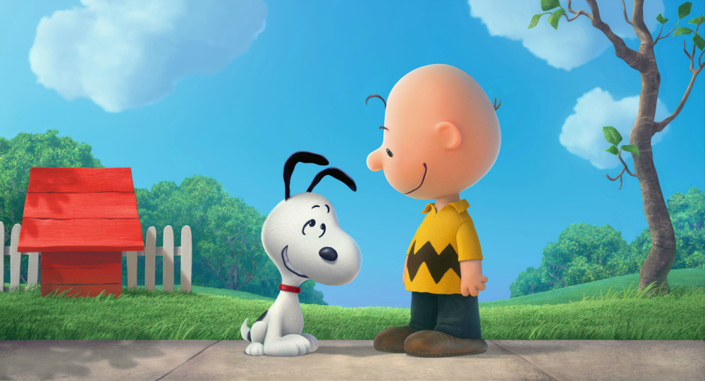 Snoopy and Charlie Brown in The Peanuts Movie