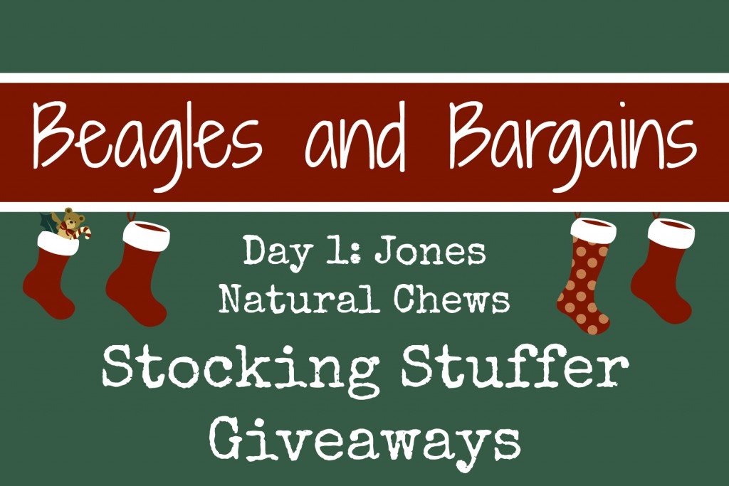 Beagles & Bargains Stocking Stuffer Giveaways 2015 - Day 1 - Jones Natural Chews