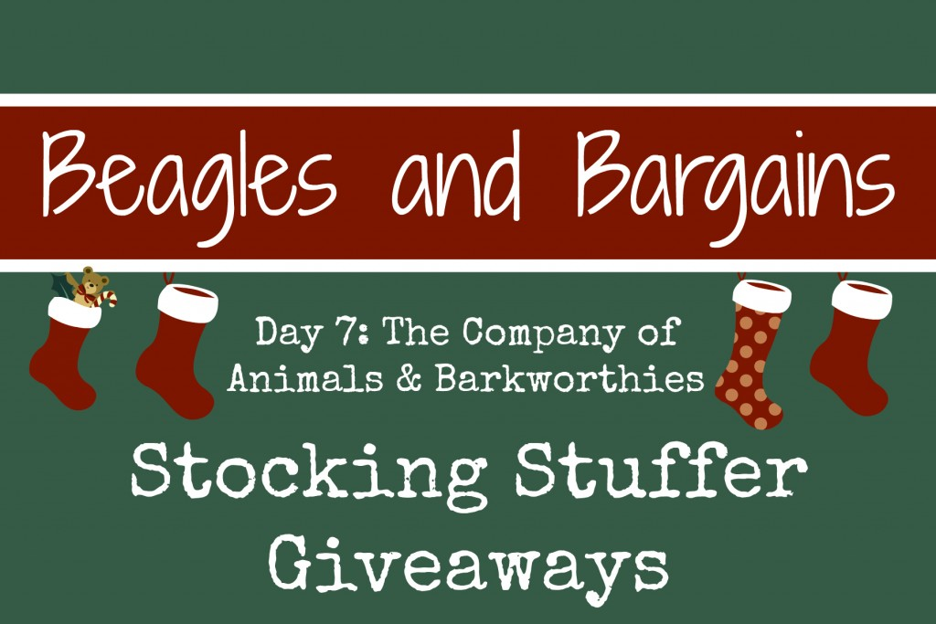 Beagles & Bargains Stocking Stuffer Giveaways 2015 - Day 7 - Barkworthies & The Company of Animals