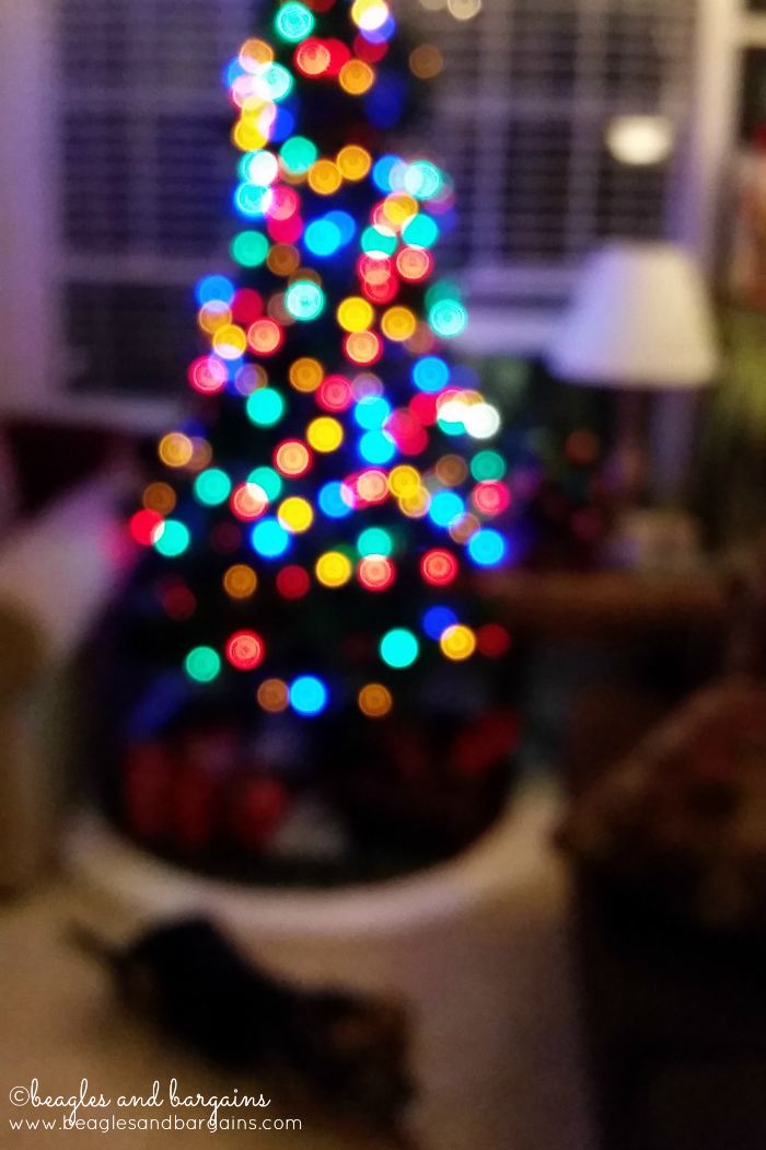 Bokeh Effect on our Christmas Tree