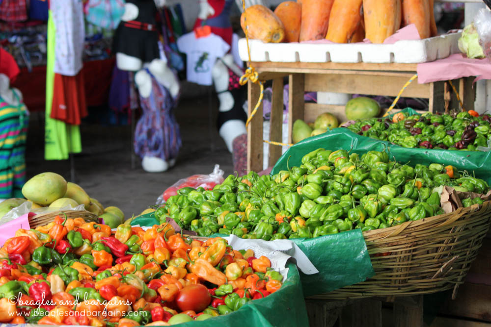 Fresh peppers at the market in Puerto Escondido