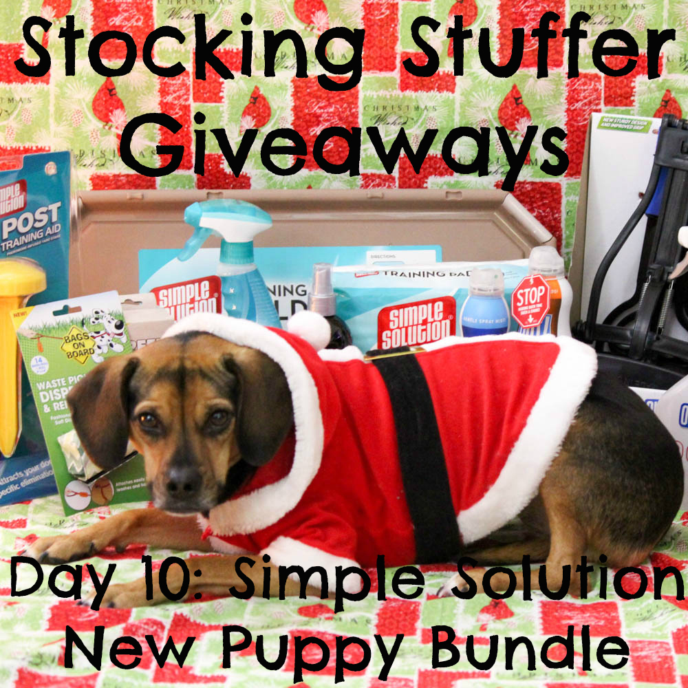 Beagles & Bargains Stocking Stuffer Giveaways 2015 - Day 10 - Simple Solution New Puppy Bundle