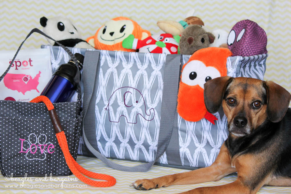 Luna with our Thirty-One Creative Caddy and Large Utility Tote