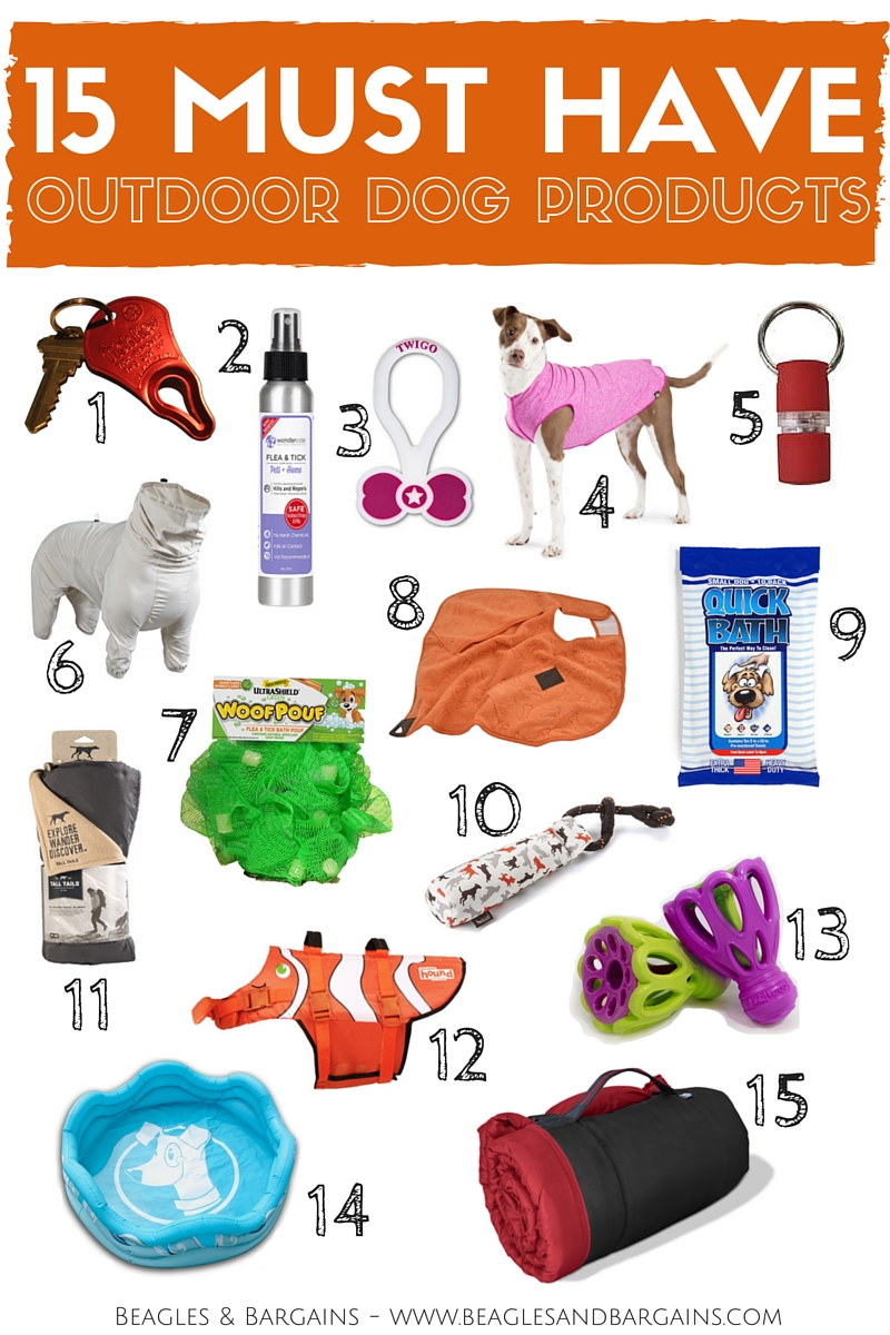 15 Must Have Outdoor Dog Products - 2016 Summer