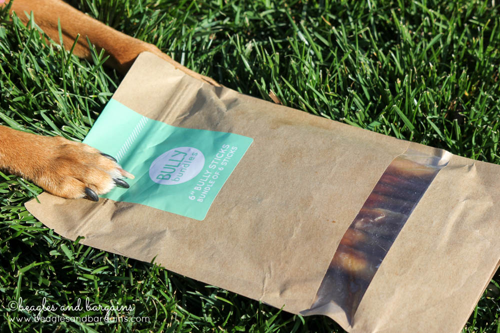 Adorable packing for Bully Bundles - bully stick subscription service for dogs and dog moms!