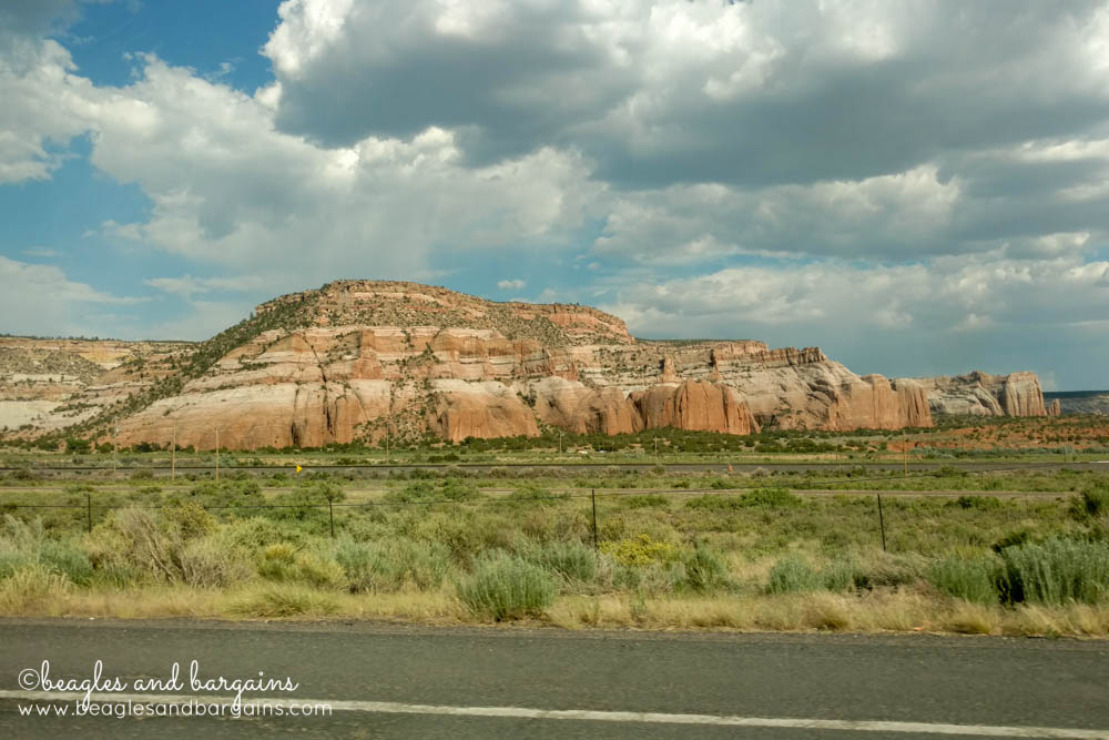 Beautiful rock formations in New Mexico - RoadTrippinBeagle