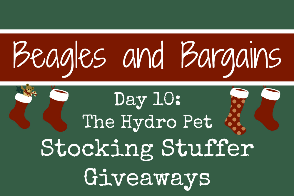 Beagles & Bargains Stocking Stuffer Giveaways 2016 - Day 10 - The Hydro Pet Bowl
