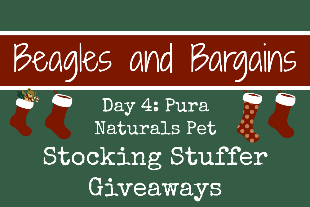 Beagles & Bargains Stocking Stuffer Giveaways 2016 - Day 4 - Pura Naturals Pet