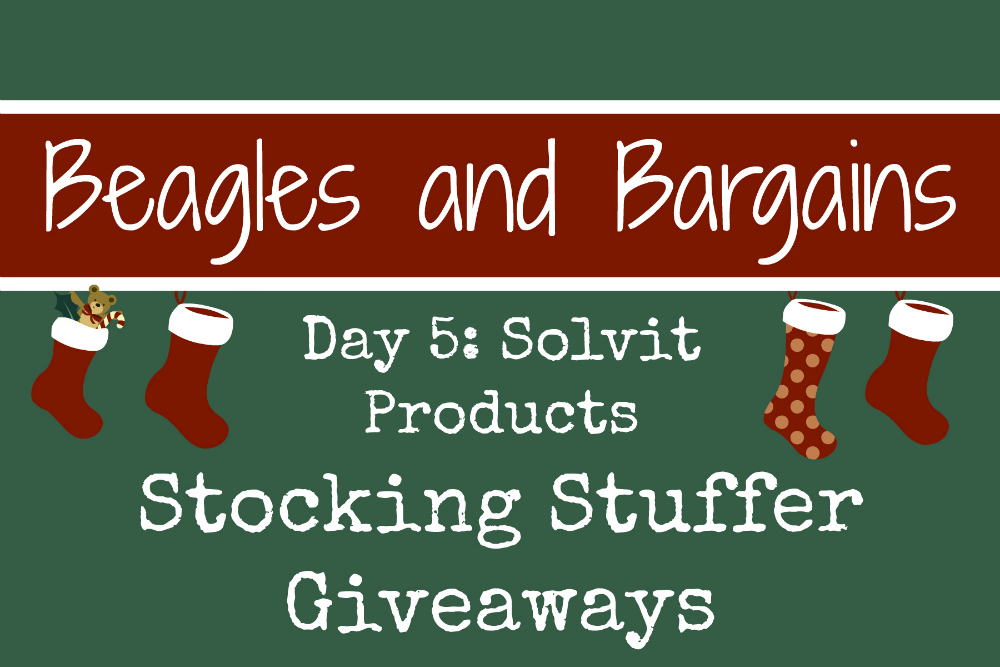 Beagles & Bargains Stocking Stuffer Giveaways 2016 - Day   5 - Solvit Products