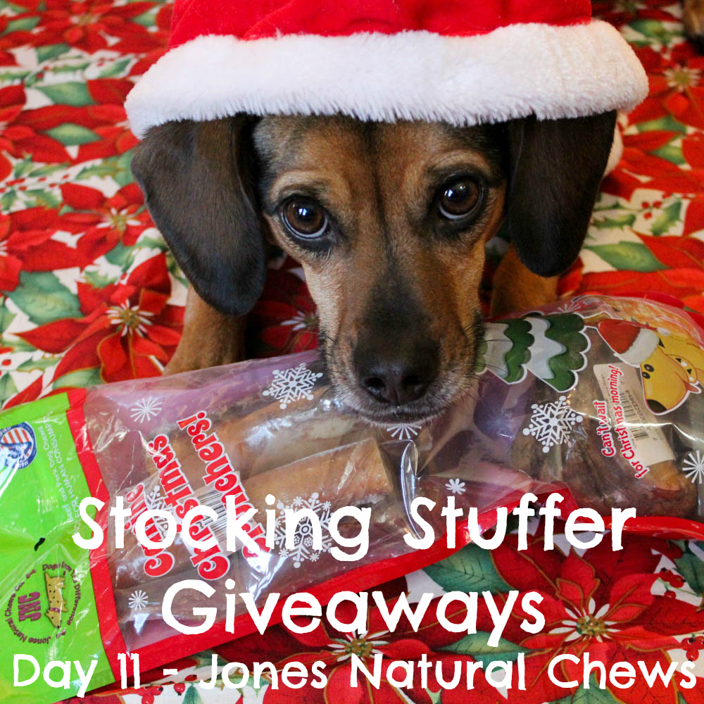 Beagles & Bargains Stocking Stuffer Giveaways 2016 - Day 11 - Jones Natural Chews