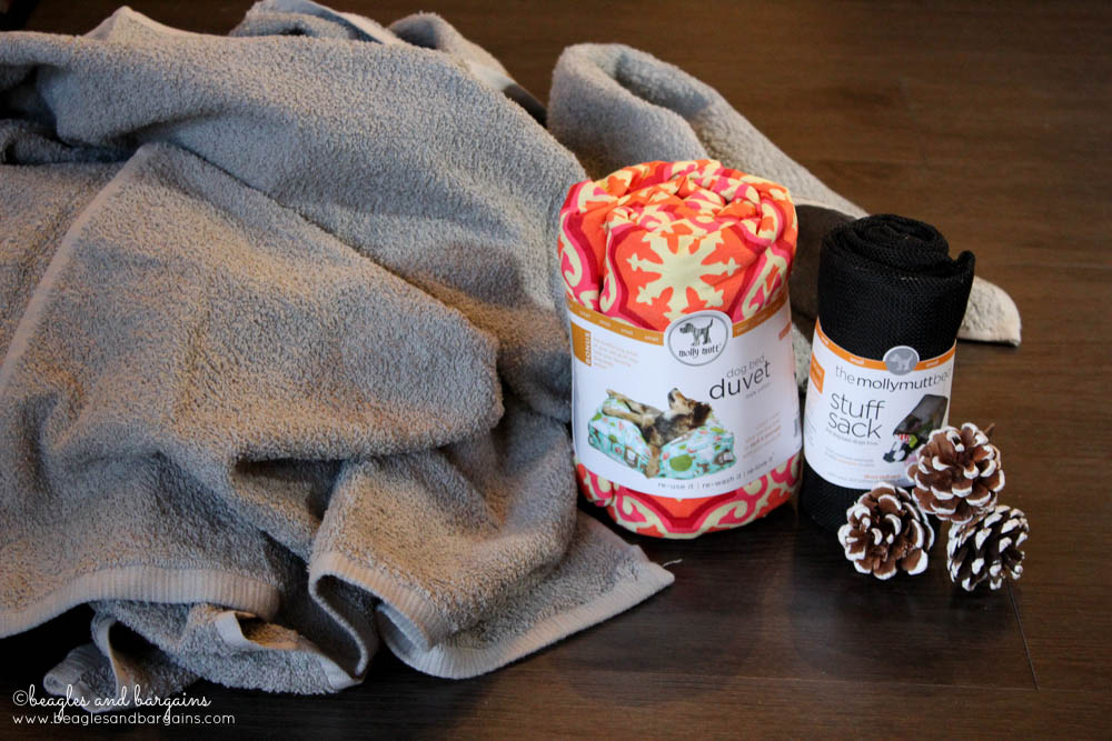 Supplies to make a Molly Mutt dog bed