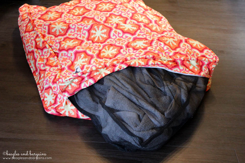 Stuff your old clothes inside a Molly Mutt dog bed duvet