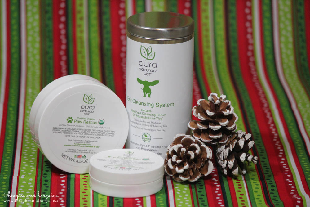 Paw Rescue, Nose Butter, and Ear Cleansing System from Pura Naturals Pet