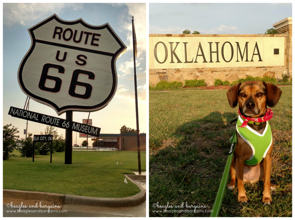 Oklahoma State Signa and World's Largest Route 66 Sign from our recent road trip