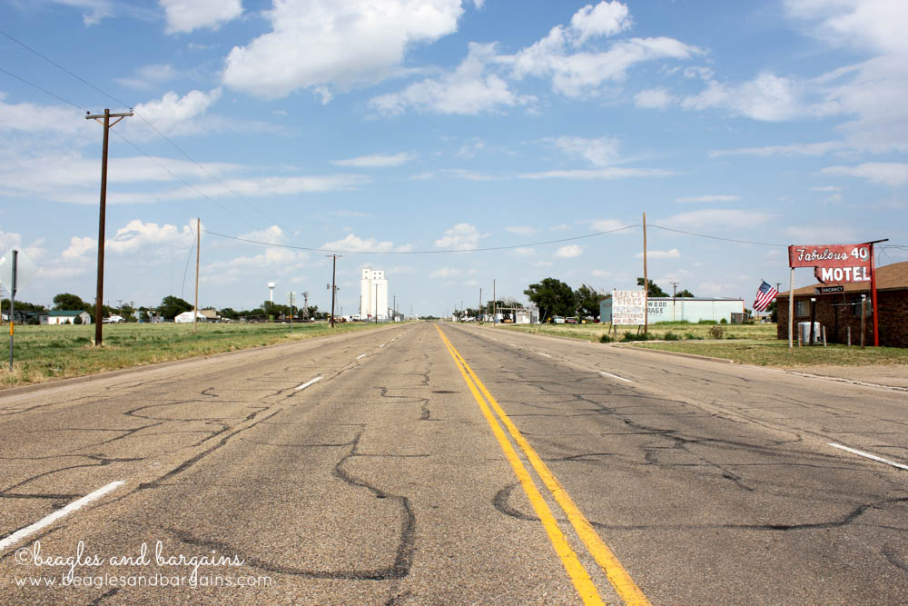 Historic Route 66 in Adrian, TX