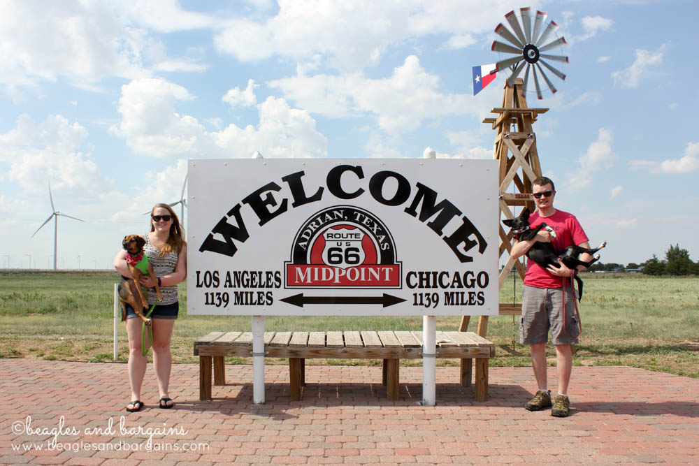Midway point between Los Angeles and Chicago on Historic Route 66 in Adrian, TX