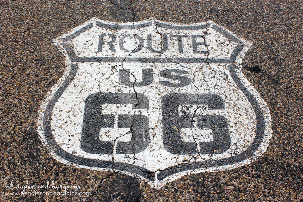 Historic Route 66 in Texas