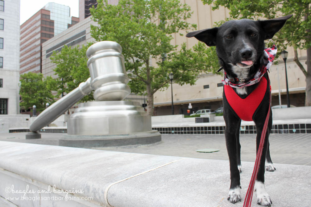 Ralph with the World's Largest Gavel in Columbus, Ohio