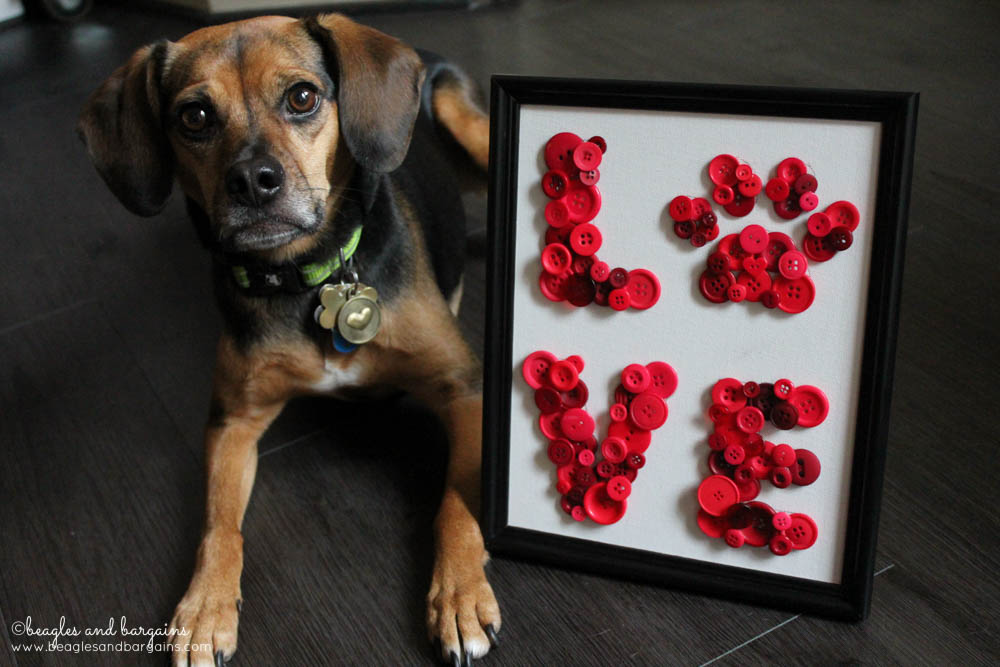 DIY Pet Inspired Button Art - Perfect Gift for Dog Moms - Valentine's Day
