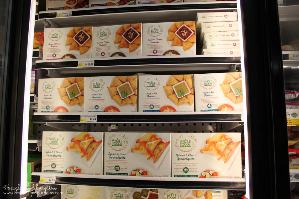 Easy to prepare frozen appetizers from Whole Foods Market