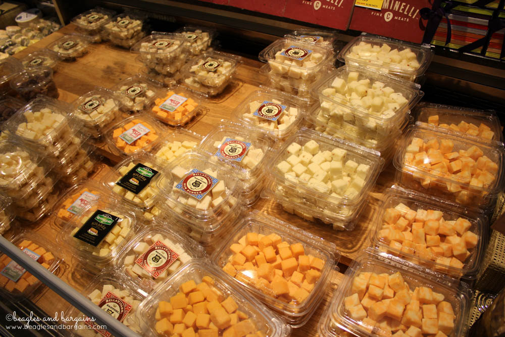 Pre-cut cheese cubes from Whole Foods 365 brand.