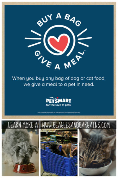 """PetSmart Launches """"Buy a Bag, Give a Meal"""" Program to Help Pets in Need #fortheloveofpets"""