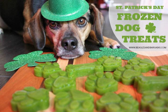 St. Patrick's Day Frozen Dog Treats - DIY Green Dog Treat Recipe