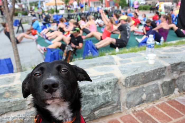 Ralph oversees fitness demos at the Fit Foodie 5K & Festival