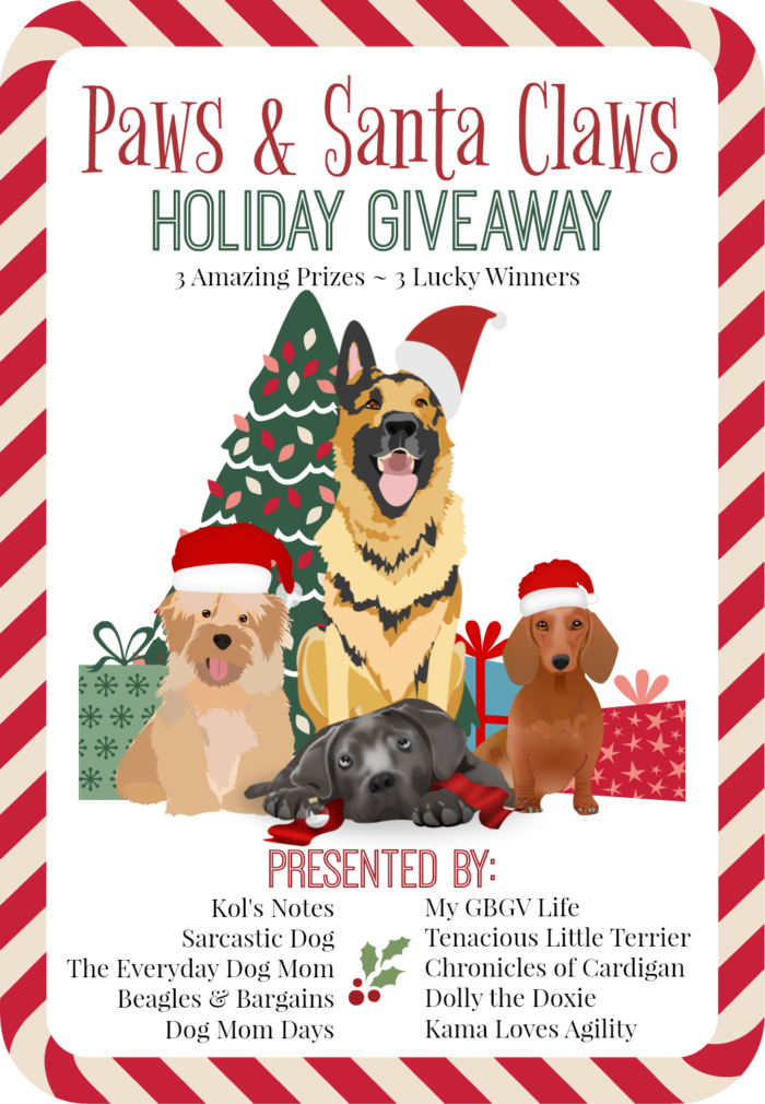 Paws santa claws holiday giveaway spoil your pets win big prizes paws santa claws holiday giveaway pet blogger christmas giveaway m4hsunfo