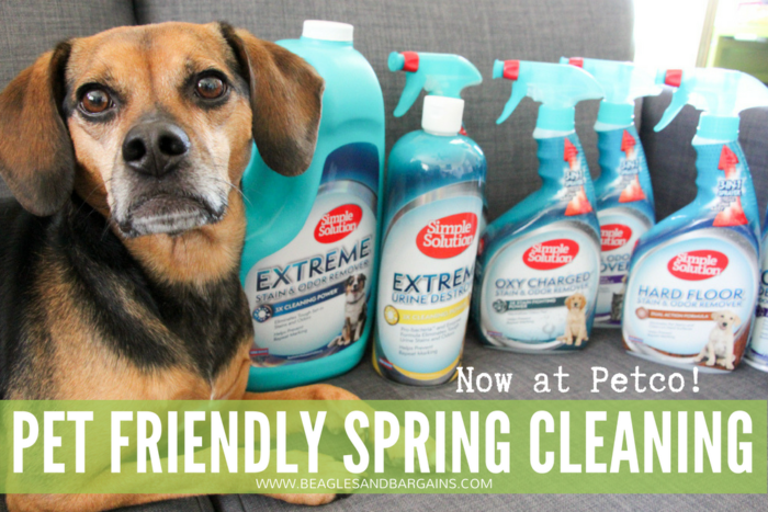 Start Your Spring Cleaning with Simple Solution - Now Available at Petco - {cleaning, pets, dogs}