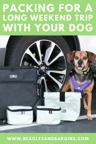 Packing for a Long Weekend Trip with Your Dog | #sponsored by Sleepypod {travel, pet friendly, printable, vacation, road trip, packing list}