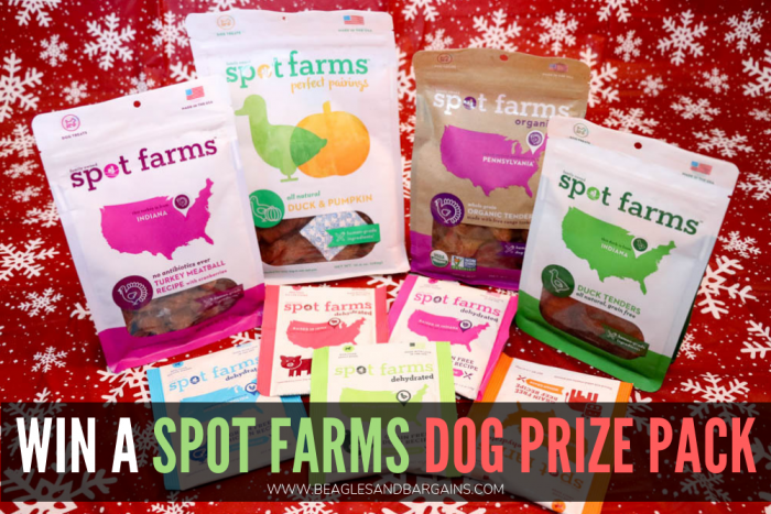 Holiday Foods Dogs Can and Can't Eat | Stocking Stuffer Giveaways | Win a Spot Farms Dog Treat Prize Pack | #sponsored by Spot Farms